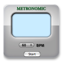 The standard screen for the Metronomic interface when idle.